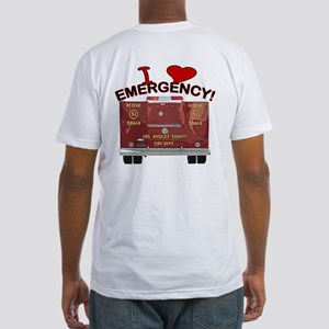 I Love EMERGENCY! Fitted T-Shirt