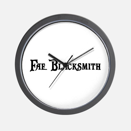 Fae Blacksmith Wall Clock