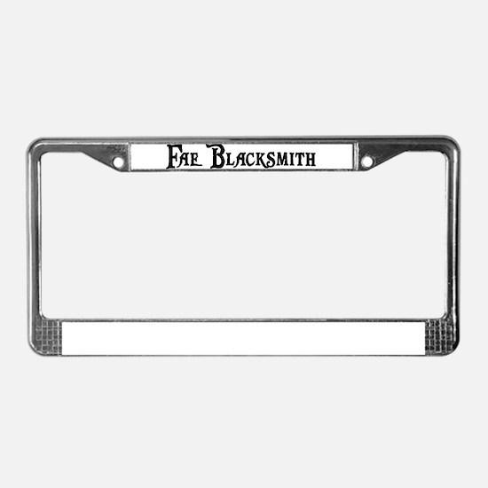 Fae Blacksmith License Plate Frame