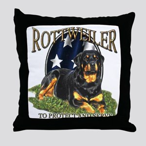 To protect & Serve Throw Pillow