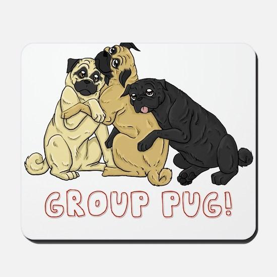 Group Pug Mousepad