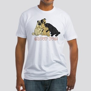 Group Pug Fitted T-Shirt