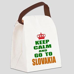 Keep Calm And Go To Slovakia Coun Canvas Lunch Bag