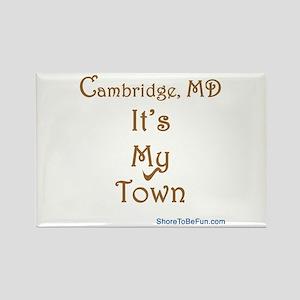 Cambridge It's My Town Rectangle Magnet