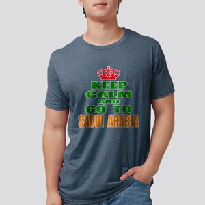 Keep Calm And Go To Saudi A Mens Tri-blend T-Shirt