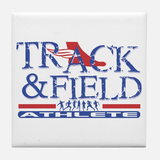 Track and Field Athlete Tile Coaster