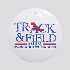 Track and Field Athlete Ornament (Round)