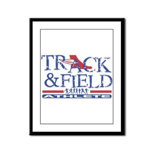 Track and Field Athlete Framed Panel Print