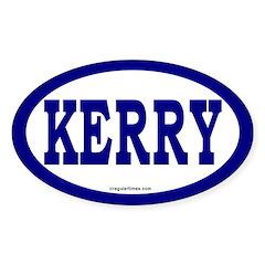 Kerry Blue Oval Car Bumper Decal