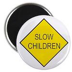 Slow Children Sign - Magnet
