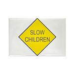 Slow Children Sign - Rectangle Magnet (10 pack)