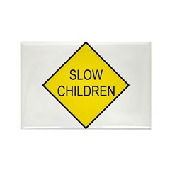 Slow Children Sign - Rectangle Magnet (10 pack)