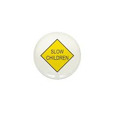 Slow Children Sign - Mini Button (100 pack)