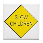Slow Children Sign - Tile Coaster