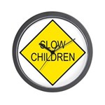 Slow Children Sign - Wall Clock