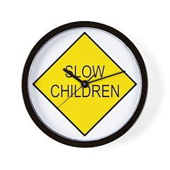 Slow Children Sign - Wall Clock