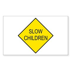 Slow Children Sign - Rectangle Decal