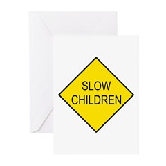 Slow Children Sign - Greeting Cards (Pk of 10)
