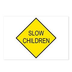 Slow Children Sign - Postcards (Package of 8)
