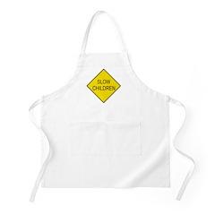 Slow Children Sign - BBQ Apron