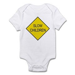 Slow Children Sign - Infant Creeper