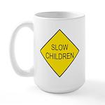 Slow Children Sign - Large Mug