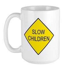 Slow Children Sign - Large Mug