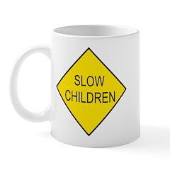 Slow Children Sign - Mug