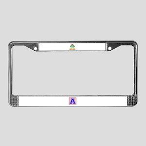 Keep Calm And Go To Qatar Coun License Plate Frame