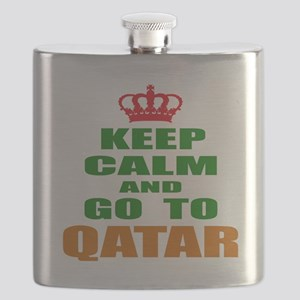 Keep Calm And Go To Qatar Country Flask