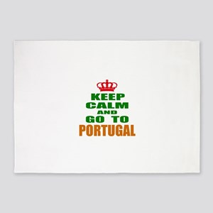 Keep Calm And Go To Portugal Countr 5'x7'Area Rug