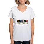 Slippermen Women's V-Neck T-Shirt