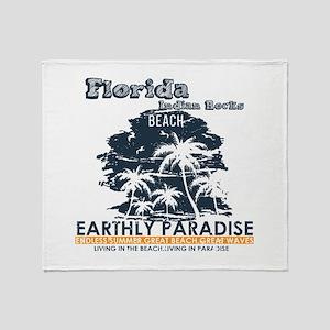 Florida - Indian Rocks Beach Throw Blanket