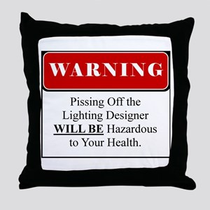 Pissing OffLighting Designer 002 Throw Pillow