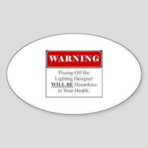 Pissing OffLighting Designer 002 Sticker (Oval)