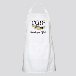 TGIF Fishing BBQ Apron