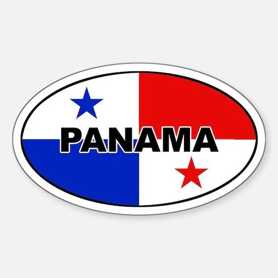 Panama Flag Oval Decal