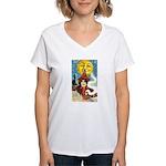 Midnight Women's V-Neck T-Shirt