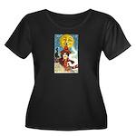 Midnight Women's Plus Size Scoop Neck Dark T-Shirt