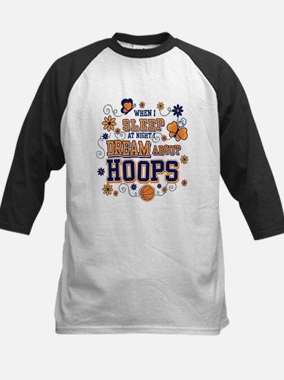 I Dream of Hoops Kids Baseball Jersey