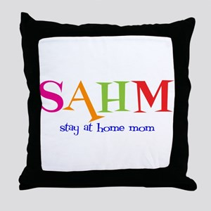 Stay at Home Mom Throw Pillow