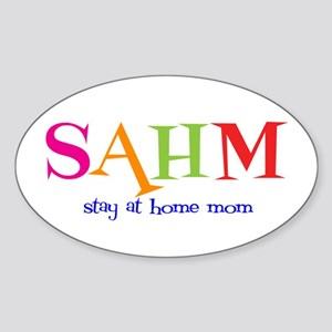 Stay at Home Mom Oval Sticker