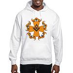 Masonic Bats and Maltese Cross Hooded Sweatshirt