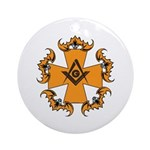 Masonic Bats and Maltese Cross Ornament (Round)