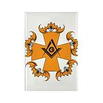 Masonic Bats and Maltese Cross Rectangle Magnet (1