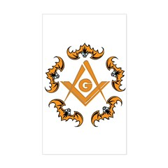 Bats and the Masons Rectangle Decal