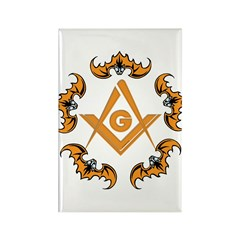 Bats and the Masons Rectangle Magnet (100 pack)