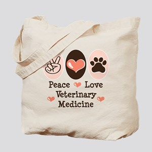 Peace Love Veterinary Medicine Tote Bag