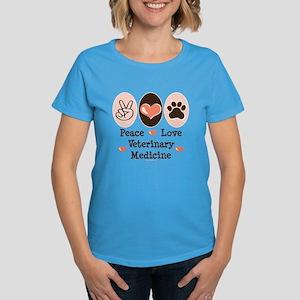 Peace Love Veterinary Medicine Women's Dark T-Shir