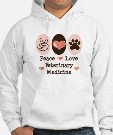 Peace Love Veterinary Medicine Jumper Hoody
